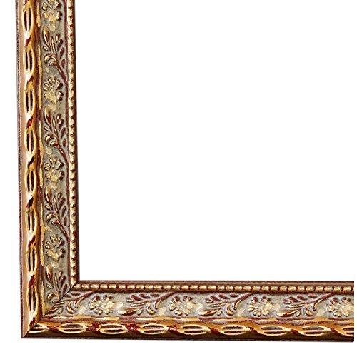 Bilderrahmen Brescia Gold 2,0-40 x 50 cm - LR - 500 Varianten - alle Größen - handgefertigt - Galerie-Qualität - Antik, Barock, Landhaus, Shabby, Modern - Fotorahmen Urkundenrahmen Posterrahmen