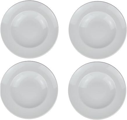 Preisvergleich für Retsch Arzberg Pastateller (Weiß) mit Pastalöffel im Set Pasta Teller XXL - Ø 30cm (4er Set)