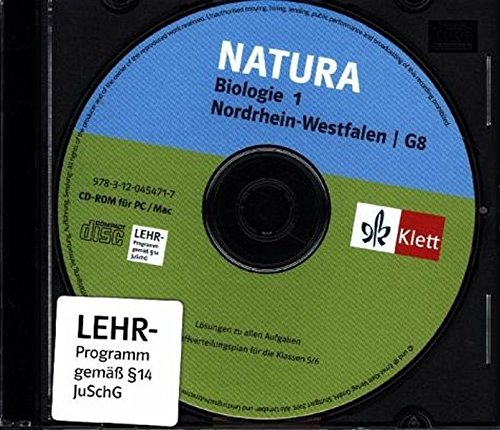Natura 1. Biologie für Gymnasien (G8). 5./6. Schuljahr. Neubearbeitung. Nordrhein-Westfalen. Lösungen auf CD-ROM: G8. Lösungen auf CD-ROM