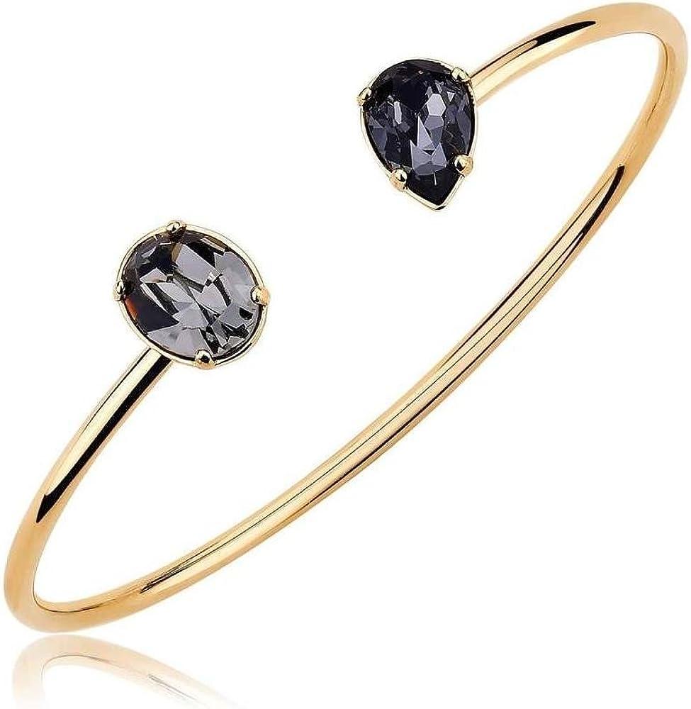 Brosway affinity  bracciale per donn in bronzo rodiato * placcatura oro giallo * cristalli colorati swarovski BBF19B