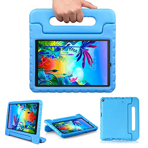 Bolete LG G Pad 5 10.1 Inch Case: Kids Tablets Cases for LG(Model LM-T600/LM-T605) - EVA Foam Cover Protector with Handle Stand Shock Proof Light Weight Washable for Child - Blue