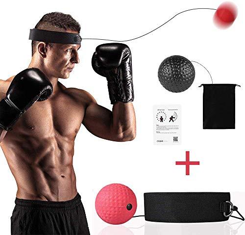 BuguCat Boxen Training Ball,Reflex Fightball Kampf Dekompression Speed Fitness Punch Boxing Ball mit Kopfband Trainingsger/ät Speedball Zuhause und Outdoor f/ür Boxtraining