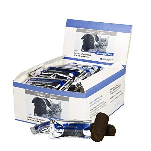 FeliGum®Trojaner Inhalt: 30 x 10 g Ergänzungsfuttermittel für Katzen und Hunde Versteckerlis zum Verstecken von Medikamenten