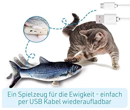 Mediashop Flippity Fish - 2 Stück – elektrisches Katzenspielzeug – Katzenminze - wiederaufladbar mit USB Kabel - Verschiedene Geschwindigkeitsstufen, mit Spielangel | Das Original aus dem TV - 7