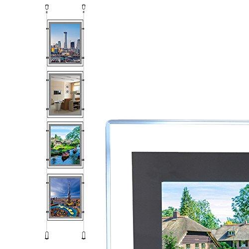 A4Hochformat Immobilien Fenster Aufhängen LED Schild Halter Display Light Box (4Stück in eine Spalte)