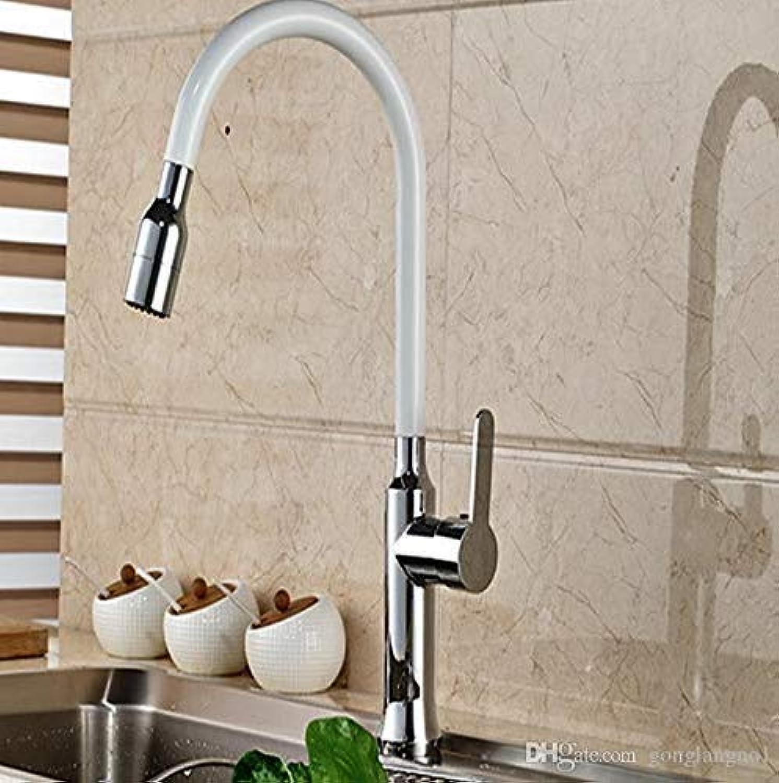 Wasserhahn Badewanne Weie Malerei Chrom Messing Küchenarmatur Schwenkauslauf Einzelgriff Loch Deck Montiert Waschtischmischer (Farbe  -, Gre  -)