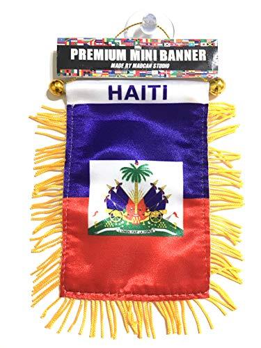 Unbekannt Haiti Flagge Kleines Auto Haiti Flagge Automarke Oder Home Design haitianischen Style
