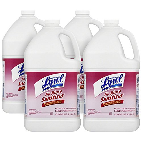 Lysol - 74389 Professional No Rinse Sanitizer Concentrate, 4gal (4X1gal)