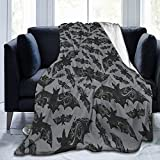Night Flight - Gothic Halloween Bats Ultra-Soft Micro Fleece Blanket Home Decor Warm Anti-Pilling Flannel Throw Blanket 50'' x 40'' for Couch Bed Sofa