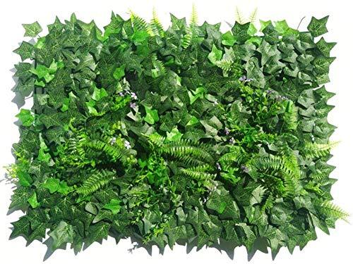 LINANNAN Artificial Ivy Pantalla Valla de privacidad, Heavy Duty Hojas Artificiales Paneles Hedge Planta de Balcón Jardín del Patio Trasero Wall decoraton, 15.75x23.62inch,Hoja de camote