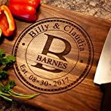 Personalized Cutting Board Anniversary Gift - Anniversary Gifts for Him or Her USA Handmade Wood Cutting Board...