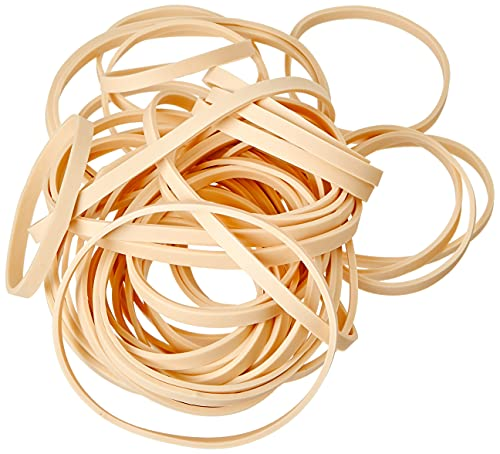 Just Stationery Assorted Size Original Elastic Band, Brown