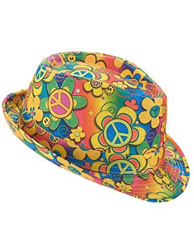 Vegaoo - Bunter Hippie-Hut - Einheitsgröße