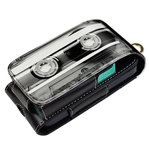 CaseMarket iQOS アイコス ケース 多収納 & ベルトフック 付 [ Mono Cassette Tape 4381 ] 電子たばこ iQOS専用 デザイン レザー ケース 保護 ポーチ カバー