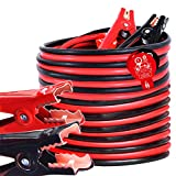 TOPDC Jumper Cables 4 Gauge 25 Feet Heavy Duty Booster Cables with Carry Bag (4AWG x 25Ft)