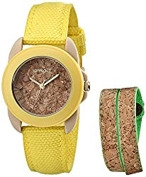 Eco-Friendly Gift Ideas for this Christmas - Sprout Women's Organic Cotton Strap Watch and Cork Bracelet