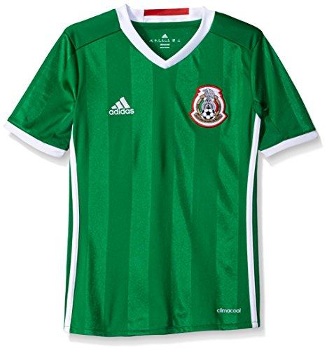 adidas Boys' Soccer Youth Mexico Jersey, Green/Poppy, Medium