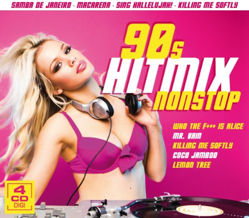 90s Hitmix Nonstop - 60 Hits auf 4 CDs (Lemon Tree, Coco Jamboo, Kiling me softly, Mr. Vain, Who the f... is alice, u.v.a.) Olivados Hitmix