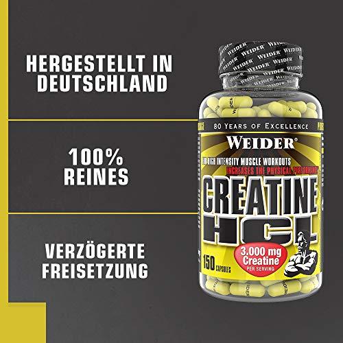 Weider Creatine HCL 150 Kapseln, 1er Pack (1 x 216 g) - 5