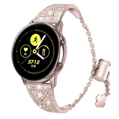 Aottom Correa Reloj Compatible con Samsung Galaxy Watch Active 2 44mm 40mm,Correa para Reloj 20mm Pulseras Mujer Diamante Reloj Galaxy Watch 42mm para Samsung Galaxy Watch Active/Active 2/Gear Sport