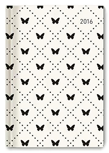 Buchkalender Butterflies 2016 - Bürokalender A5 / Cheftimer A5 - 1 Tag 1 Seite - 352 Seiten