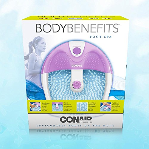 Conair Foot Spa/Pedicure Spa with Soothing Vibration Massage, Lavender/White