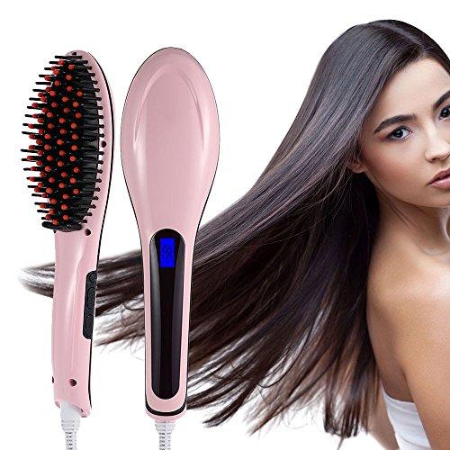 Beauty Star - Cepillo alisador eléctrico (digital), color rosa ...