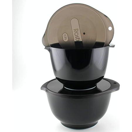 440s ROSTI RO-13029 5722000130291 Lot de 2 saladiers Margrethe Noir env. 2 + 3 l avec couvercle opaque
