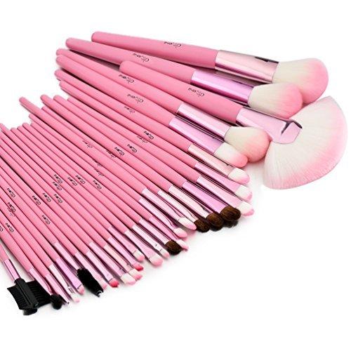 Glow Rosa 30 Stück Professionelle Make-up-Pinsel Pinselset enthalten Make-up Pinsel & Zubehör...