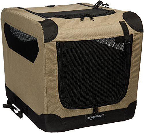 Amazon Basics - Transportín para perros, blando, plegable, 53 cm