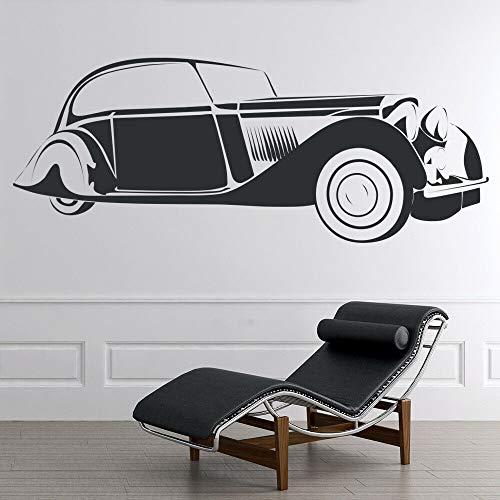 HGFDHG Vintage coche pegatinas de pared retro transportador arte mural dormitorio sala gente cueva garaje decoración del hogar vinilo vidrio pegatinas