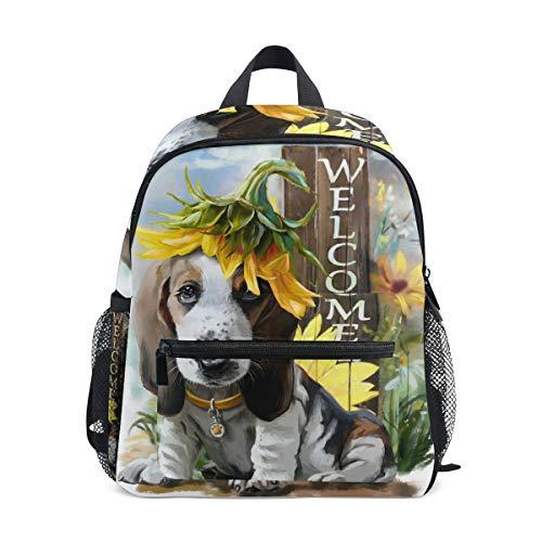 CPYang Kinder-Rucksack mit Tiermotiv und Sonnenblumen-Motiv, für Jungen und Mädchen