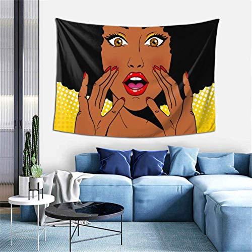 Tapiz de Pared Wow Pop Art Face Tapiz de Sorpresa Sexy Tapices para Colgar en la Pared para Dormitorio Decoración de Arte de Pared para Dormitorio Sala de Estar Dormitorio,