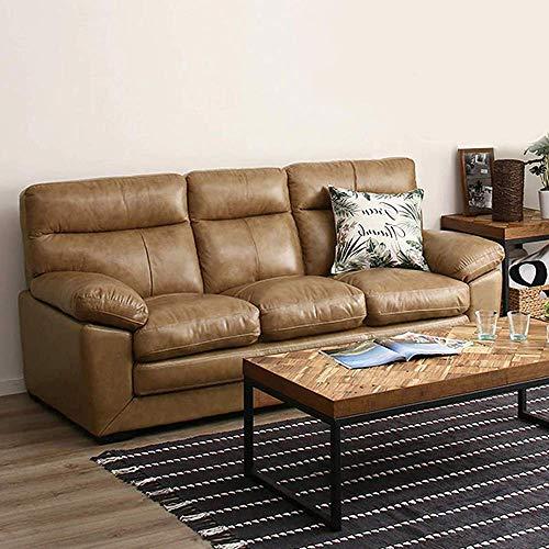 Furny Charlott Leatherette 3 Seater Sofa (Beige)