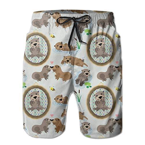 Générique Pantalons de Plage Shorts de Plage Shorts de Bain Maillots de Bain XL