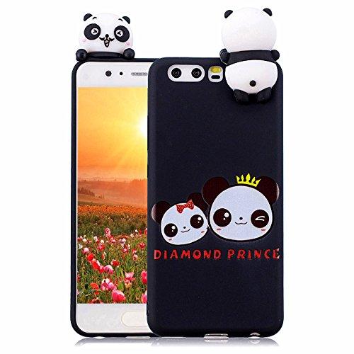 Hancda Etui pour Huawei P10, Coque Housse Souple Case Etui 3D Silicone TPU Ultra Mince Slim Cover Motif Mignonne Antichoc Protection Coque pour Huawei P10,04 Design