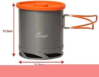 KEHAIWU 1L Portable Heat Exchanger Pot Fire Maple FMC-XK6 Ultralight 190G Outdoor Camping Kettle Picnic Cookware