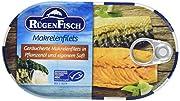 - Rf Fischkonserven 200g, Makrelenfilet - Rügen Fisch - Makrelenfilets - Fanggebiet: Nordostatlantik (FAO 27), Subfanggebiet: Nordsee, Fangmethode: pelagisches Schleppnetz oder Ringwade - Identitaetskennzeichen: DE MV-EFB 008 EG