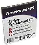 Battery Kit for Samsung Galaxy Tab S3 SM-T827V with Tools, Video Instructions and Battery from NewPower99