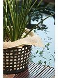 WFW wasserflora 5 Stück Jute-Pflanzentücher/Wasserpflanzentücher, 60x60 cm