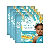 The Honest Company Baby Diapers With Trueabsorb Technology, Peace Out, Size 4, 92 Count