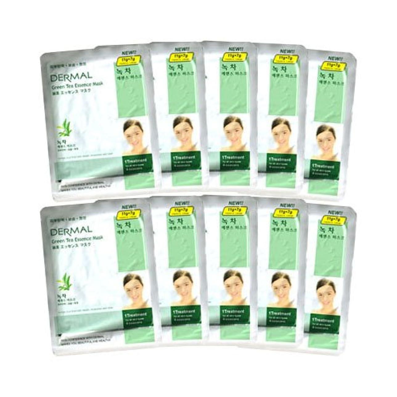適度な仕事提供するダーマル 緑茶エッセンスマスク 10枚セット