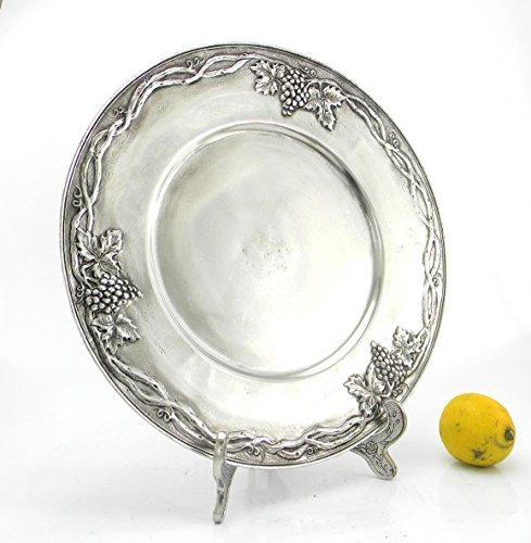 Cavagnini, Tischset aus Zinn, Durchmesser 32 cm. Handgefertigt in Italien, solide und elegant