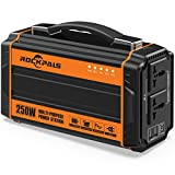 Rockpals 250-Watt Portable Generator Rechargeable Lithium...
