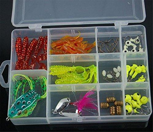 TTYY Bionischer Köder Sea Fishing Lure Künstliche Weiche Köder Werkzeug Fisch Köder Anzug (Farbe zufällig)
