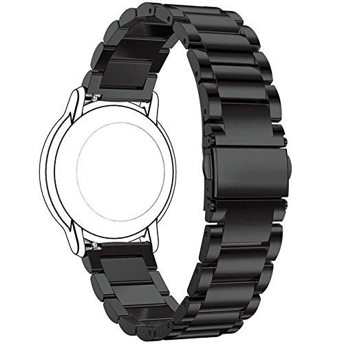 Ruentech Ersatzuhrenarmband Kompatibel mit Fossil Q Uhrenarmbänder,22 mm Metallarmband für Fossil Q Gen 5 Juliana Carlyle/Fossil Q Gen 4 Gen 3 Explorist HR/Fossil Q Gen 2 Hybrid Ersatzband