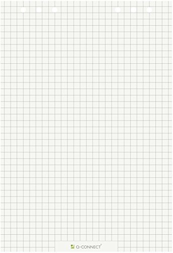 Q-Connect KF15416 Flip Chart-Block, Flip Chart-Papier - Zubehör Flipchartblock 80 g UWS kariert