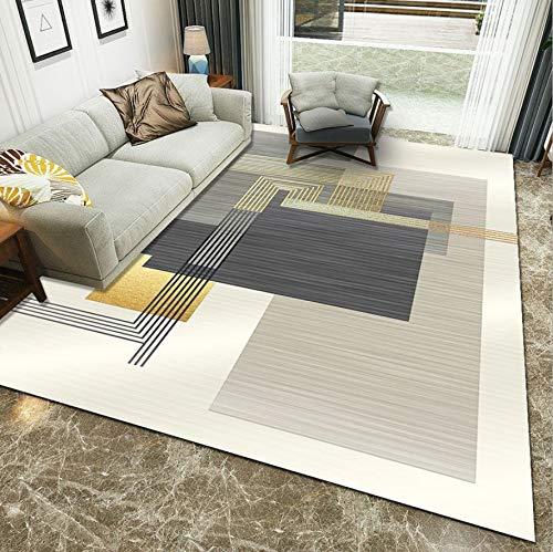 WDSZY Fashion Polyester Carpet, Geometric Printed Stain-Resistant Area Rug, Non-Slip Kid Crawling Rug Modern Home Decor 80X150Cm