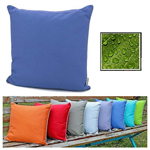 fashion and joy 551, cuscino decorativo effetto loto, per salotto all'aperto, 45 x 45 cm, resistente alle intemperie e allo sporco, struttura idrorepellente, da giardino