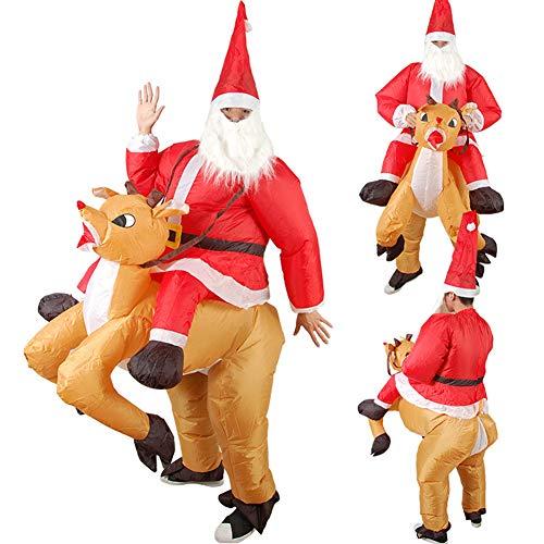SFJRY® 180m Gonfiabile Illuminato Babbo Natale Pupazzo di...
